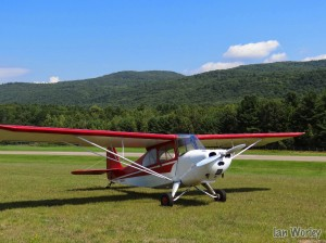 Aircraft used for taking photos. 1946 Aeronca 7AC Champ. Resides at Middlebury State Airport.
