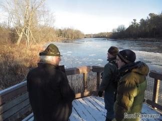 Overlooking the newly frozen Otter Creek