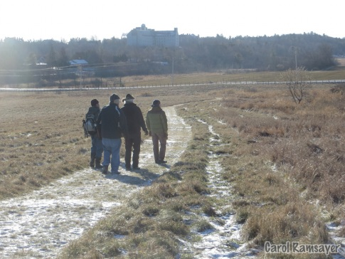 Walking the trail at the Hurd Grassland
