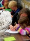Seachering for bones in an Owl pellet