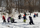 Grant funds helped support the Four Winds program in Starksboro, where K-6 students took their new-found knowledge of tracking into the snowy outdoors.