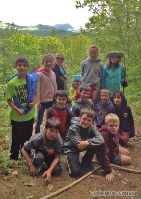 Green Mountain Audubon Center in Huntington offered nature study activities to Weybridge 4th and 5th graders. Students followed that with a hiking adventure on their own.