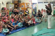 A live raptor program from VINS visited students at Cornwall Elementary and Salisbury Community schools.