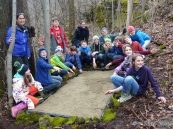 Cornwall students built a sand trap to discover what animals might be using a potential wildlife corridor.