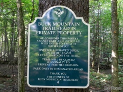 Informational trail sign